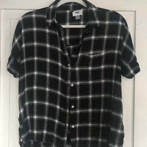T-shirt Old Navy Button-up